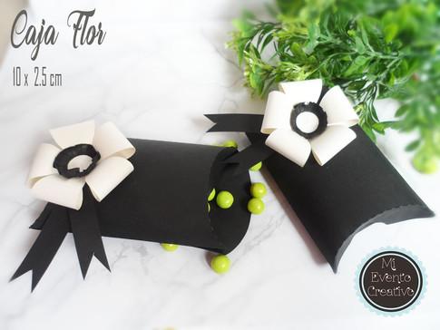 Caja almuada con flor