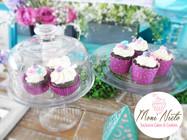 #cupcakes Mesa con el tema atrapasueños floral