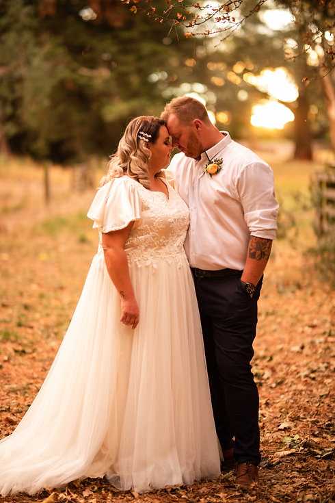 Golden Hour for Bride and Groom