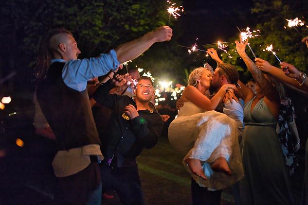 Wedding Sparklers at Bramble Grove