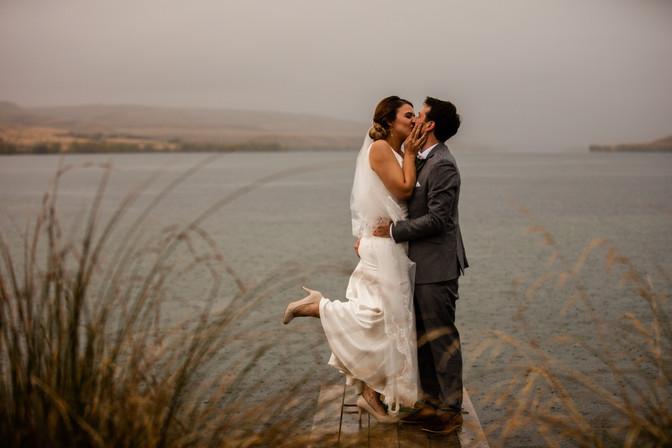 Lake Alexandrina wedding photo