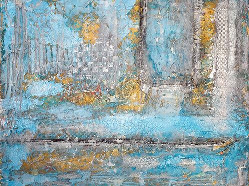 """""""January"""" 24"""" x 30"""" x 1.5"""" by Edward Bock"""