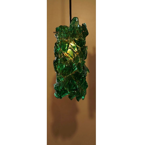 Green Glass Pendant Light
