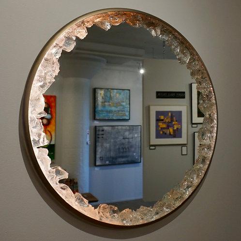 "25"" Lit Mirror w/glass border"