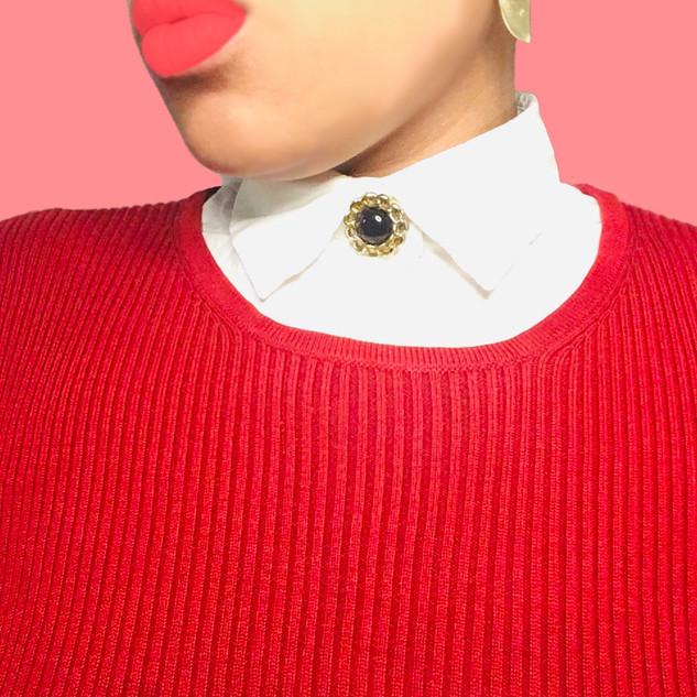 Faux Collar Sweater