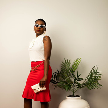 Red Flare Summer Look