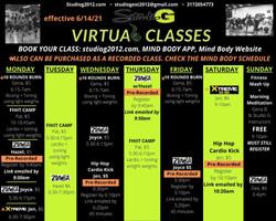 Virtual Schedule effective June 14