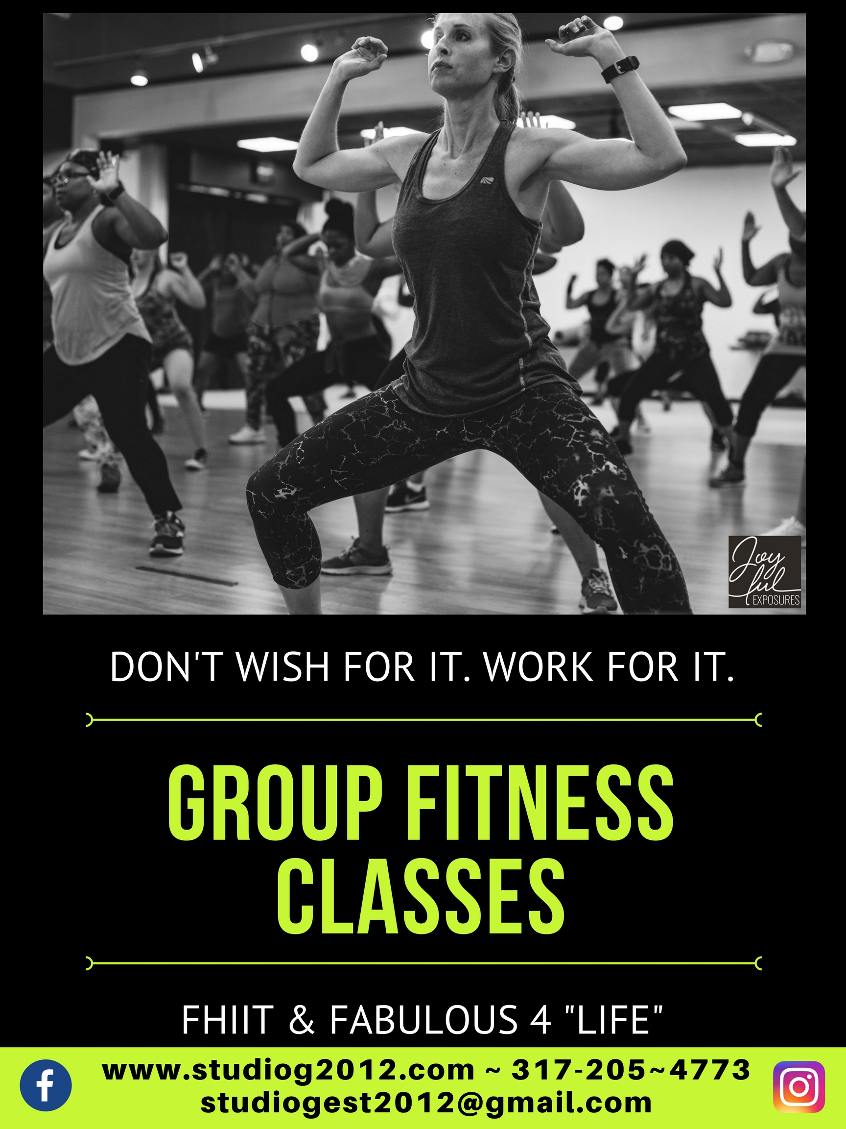 Group Fitness Classes Completed Poster