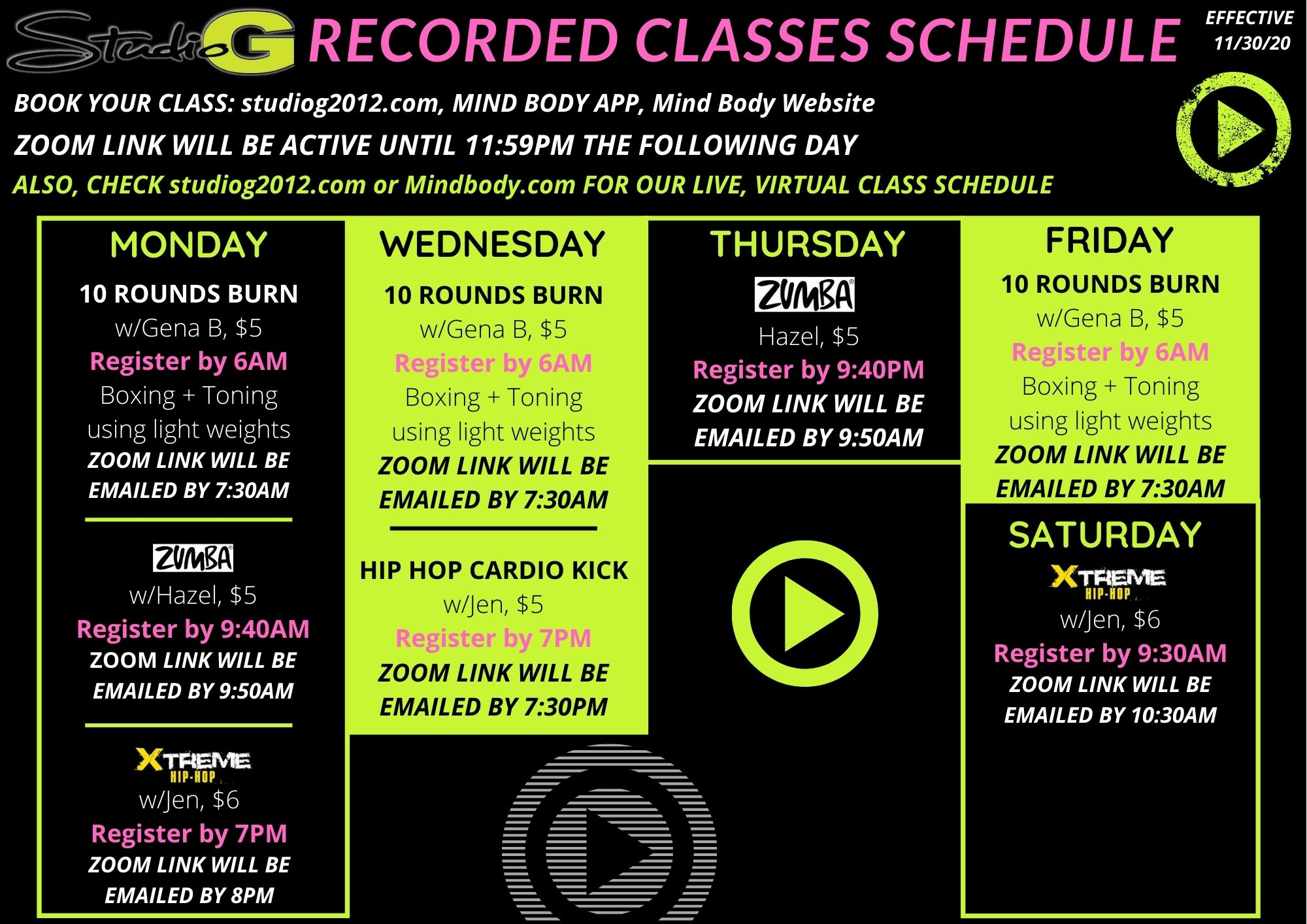 Recorded Classes
