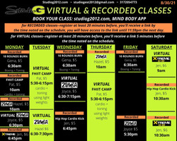 Virtual Schedule effective Aug 30