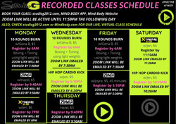 Recorded Classes effective June 14