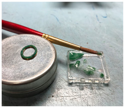 Enameling the circle component