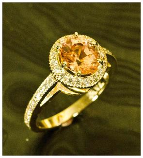 padparadcha sapphire with diamonds clint