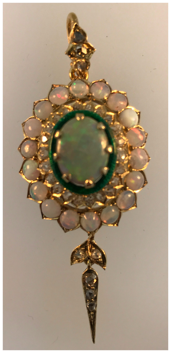 Close up of restored pendant