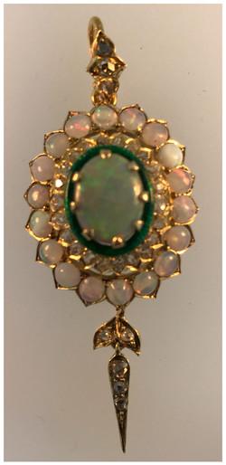 Close up of restored pendant
