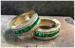 Emerald & Diamond Earrings