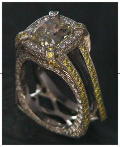 4 ct emerald cut diamond set with natura