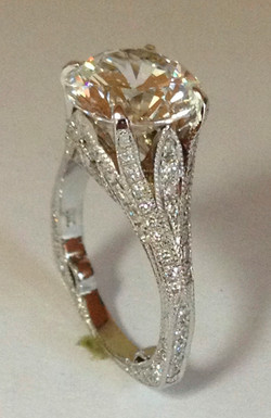 Large Center Diamond Ring Completed