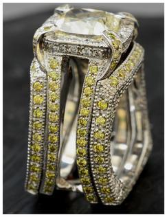 7 ct natural yellow diamond with natural