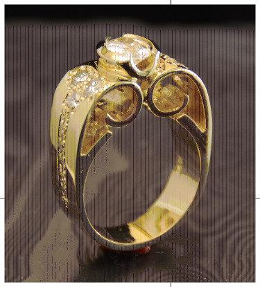18k Gold-Diamond Ring