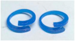 Wax cast of earrings