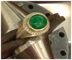 Jade & Diamond Ring