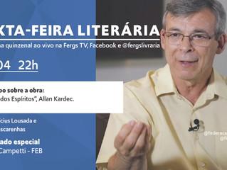 Sexta-Feira Literária contará com a presença de Carlos Campetti