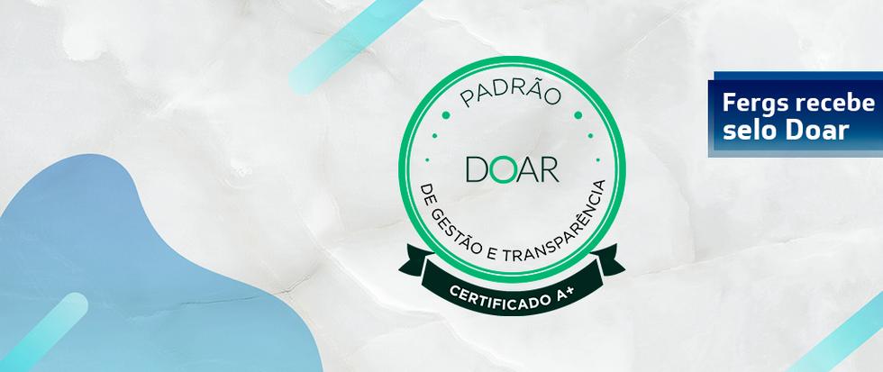 Selo Doar - qualidade e transparência
