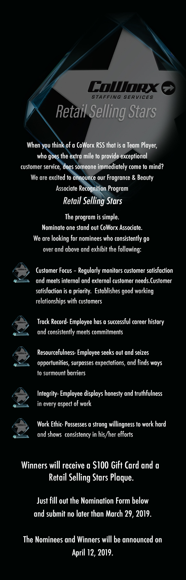 retail selling stars website landing pag