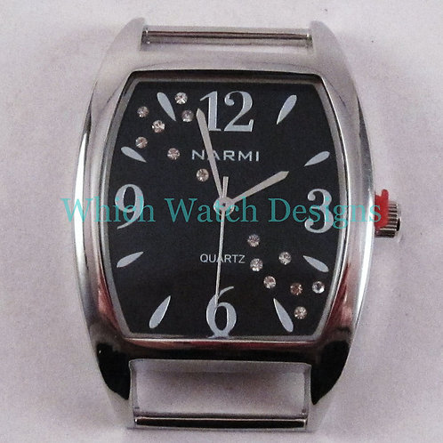 Rhinestone Rectangle Watch Face