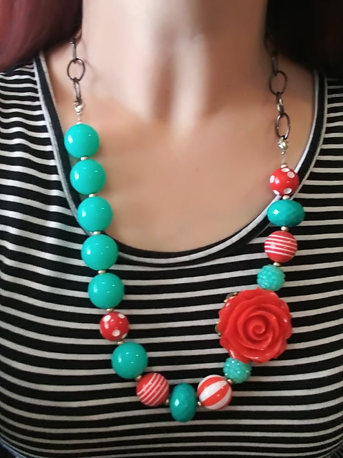 Red & Turquoise Necklace