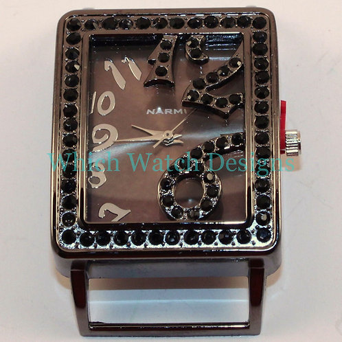 Rectangle Bling Watch Face