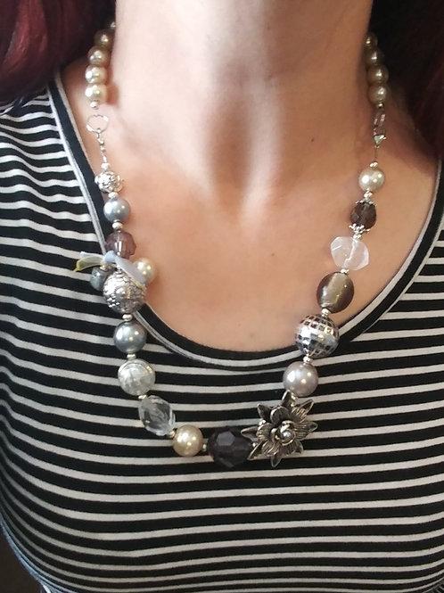 Greige Necklace