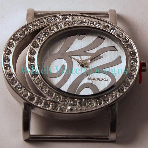 Rhinestone Oval Watch Face