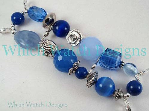 Blue Jumble Watch Band