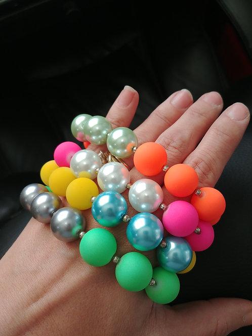 Neon Pearl Bracelet