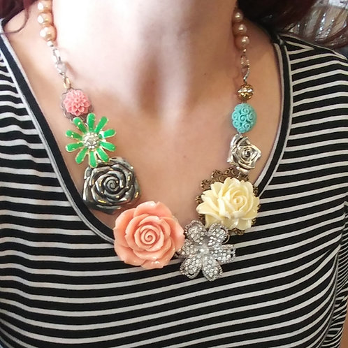 Pastel Floral Necklace