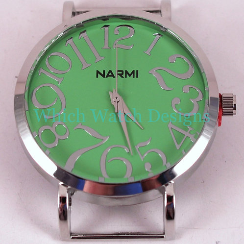 Large Round Lime Watch Face