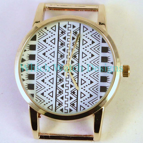 Tribal Round Watch Face