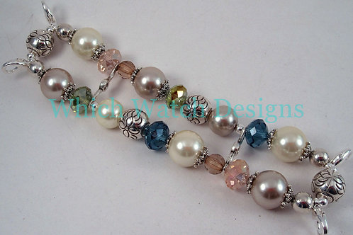 Pearls and Crystals Watch Band