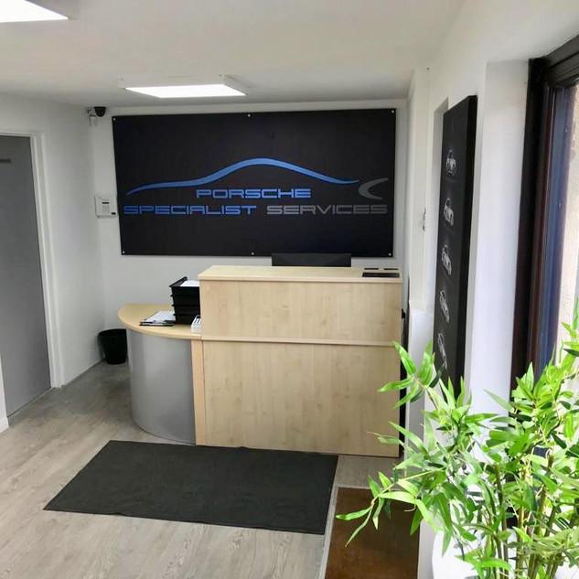 Porsche Specialist Services Reception