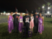 Drum Majors and Colorguard with Trophies