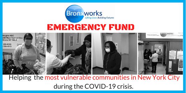 Bronxworks COVID-19 help.