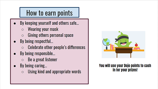 How to earn Dojo points graphic.