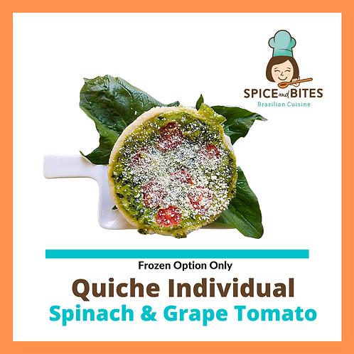 Spinach & Cherry Tomato Quiche