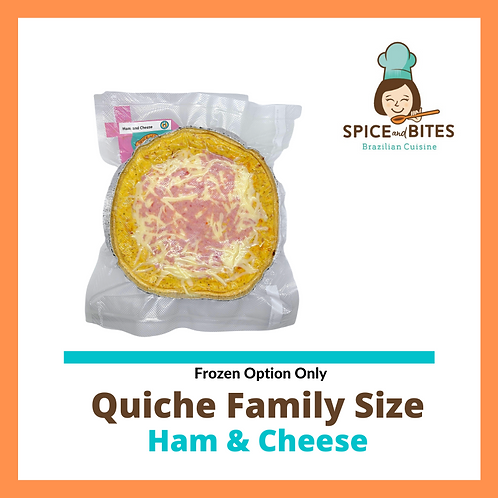 Quiche Family Size - Ham and Cheese