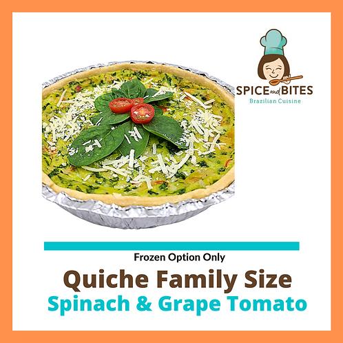 Quiche Family Size - Spinach & Grape Tomato