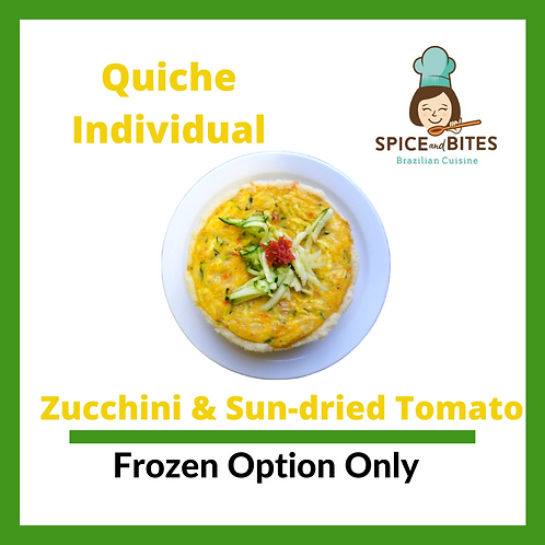 Zucchini & Sun-dried Tomato Quiche