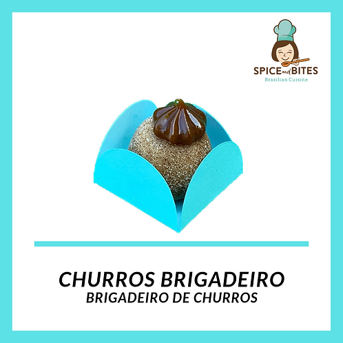 Churros Brigadeiro - Brigadeiro de Churros 25 units.