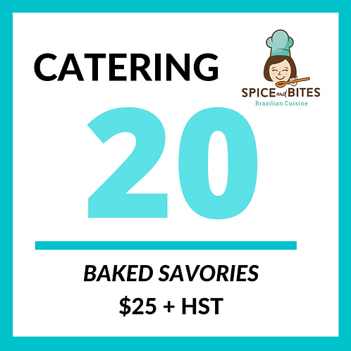 CATERING 20 Snack Baked Brazilian Savories